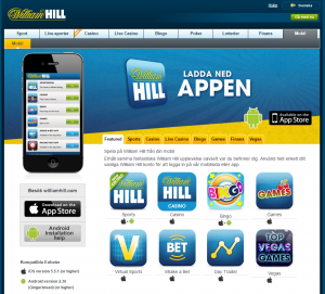 William Hill i mobilen